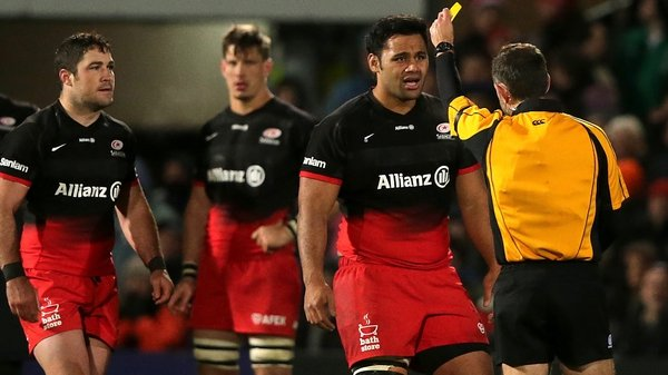 Saracens scored two tries while Billy Vunipola was in the sin bin