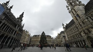 Crowds were noticeably smaller on Brussels' Grand Place