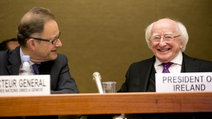 President Michael D Higgins gave the keynote address at the opening of the conference