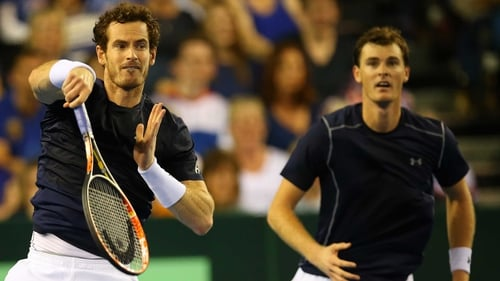 Andy Murray (L) and his brother Jamie will compete in the Davis Cup final for Britain
