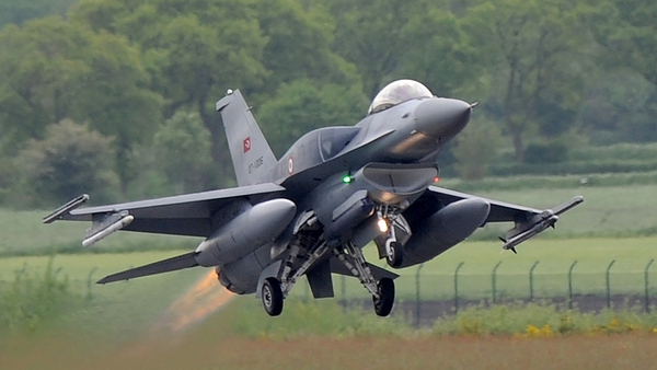 A file photo showing a Turkish Air Force F-16 fighter jet