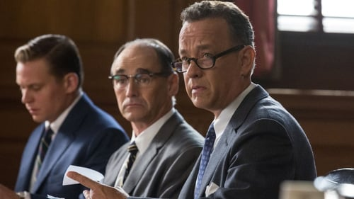 Mark Rylance (centre) and Tom Hanks form an unlikey bromance in Bridge of Spies