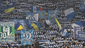Dynamo Kiev fans during the clash with Chelsea last month