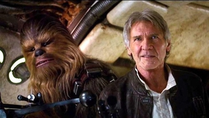 Peter Mayhew played Chewbacca, alongside Harrison Ford's Han Solo