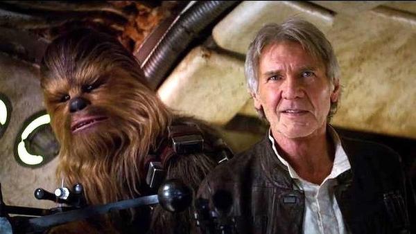 Peter Mayhew played Chewbacca, alongside Harrison Ford's Han Solo