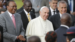 Pope Francis said he will offer 'spiritual and material' support to Kenya