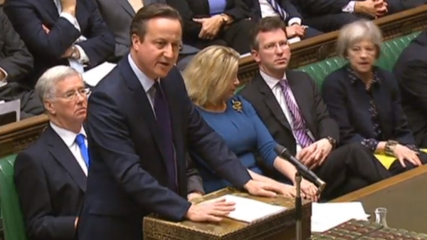 David Cameron sets his stall out before the House of Commons for further Briitsh air strikes in Syria