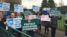 TUI members protest outside CIT