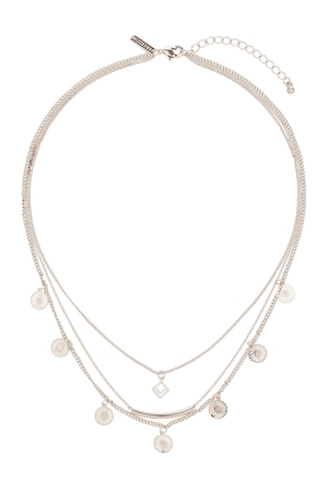 Filigree And Disc Multirow Necklace €12 at Topshop