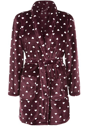 Burgundy Heart Dressing Gown €17.99 at New Look