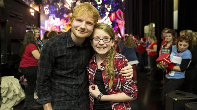 Ed Sheeran and Aimee Keogh on 'The Late Late Show' toy show (2014)