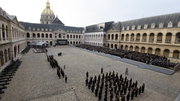 Ceremony was held at Les Invalides in central Paris