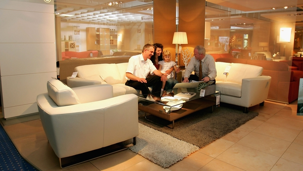 Furniture and lighting sales rose by 3.8% in October, new CSO figures show