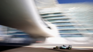 Nico Rosberg in action during qualifying for the 2015 Abu Dhabi Grand Prix