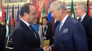 French President Francois Hollande greets Prince Charles at the Commonwealth Heads of Government Meeting (Chogm) in Malta