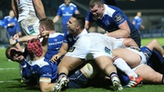 Ben Te'o celebrates Sean Cronin's try