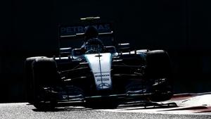 Rosberg has claimed a third consecutive pole position