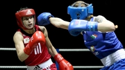 Shauna O'Keefe in action against Katie Taylor last night
