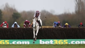 Smad Place leaves his rivals toiling in his wake as he clears the last at Newbury