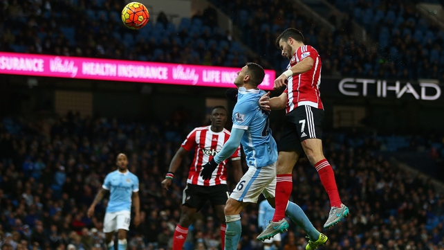 Manchester City ease past Southampton to go top
