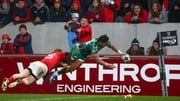 Bundee Aki scores a spectacular winning try at Thomond Park