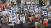Nine News Web: Thousands take part in a protest in London against Britain joining air strikes