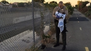 Deputies removed the pieces of asphalt and debris and rescued the baby from the hole