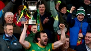 Kevin Harney lifts the cup to spark wild Clonmel Commercials celebrations