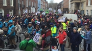 People from all parts of the country marched from Custom House Quay to the gates of Dáil Éireann