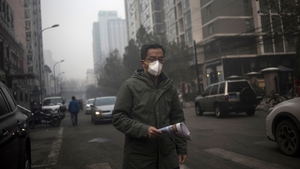 The reading of PM2.5 is nearly seven times the World Health Organisation's recommended maximum exposure of 25