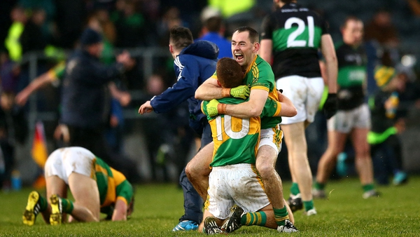 Clonmel's Fergal Condon and Luke Moore celebrate after the game