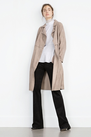 Zara suede coat €279