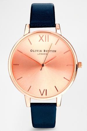 Olivia Burton Big Dial Navy Watch With Rose Gold Face €117.65 at ASOS