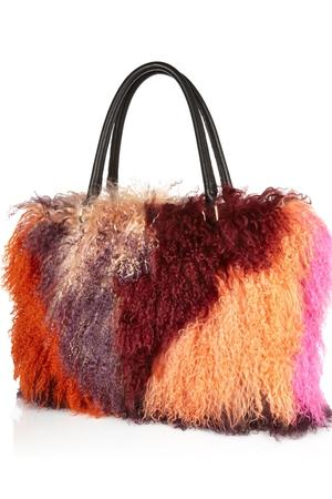 Mongolian faux fur bag €200 at River Island