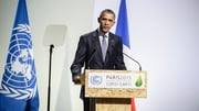 President Obama was speaking at the climate summit