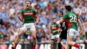 Andy Moran celebrates a crucial score in the drawn All-Ireland SFC semi-final against Dublin