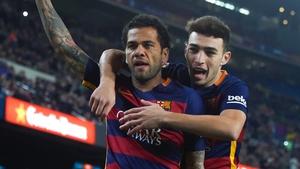 Dani Alves spent eight years at Barcelona