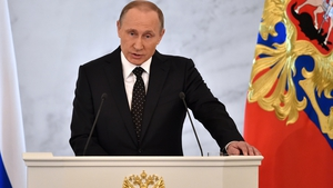 Vladimir Putin made the remarks in his annual state of the nation address