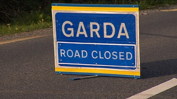 Gardaí say that the road where the collision happened is closed and diversions are in place