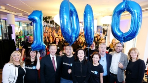 LinkedIn's office, beside the site where a new office is being built, was visited by Taoiseach Enda Kenny