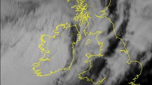 This Met Éireann infra-red image shows the movement of the storm over Ireland and Britain