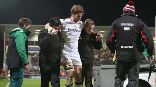 Ulster's Iain Henderson goes off injured