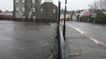 The River Deel has burst its banks in Crossmolina, Co Mayo (Pic: Richard Moyles)
