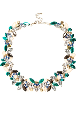 Turquoise gem statement necklace €26 at River Island
