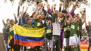 Portland Timbers celebrate their first ever MLS Cup win