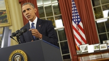 President Obama said there was no need to panic about the virus