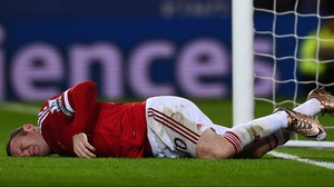 Wayne Rooney injured his ankle in the 1-1 draw at Leicester City