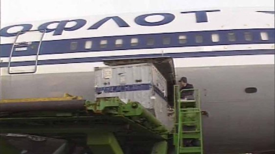 Aeroflot Plane In Shannon Airport 1990