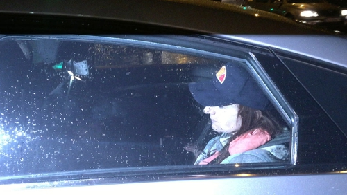 Clare Daly made no comment as she was driven into the prison earlier