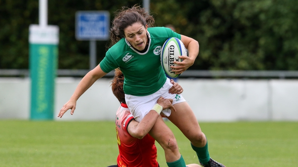 Ireland sevens player Lucy Mulahll in action at the sevens series qualifier at UCD in August